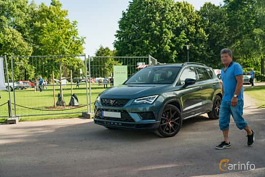 Front/Side  of Cupra Ateca 2.0 TSI 4Drive DSG Sequential, 300ps, 2019 at Ronneby Nostalgia Festival 2019