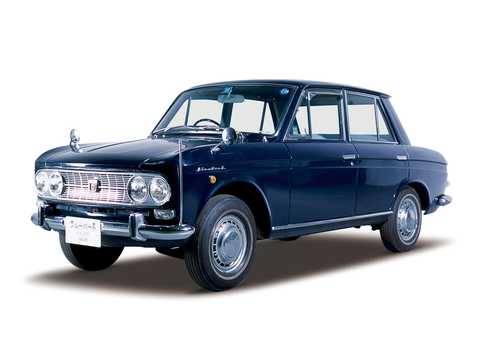 Front/Side  of Datsun Bluebird 4-door Sedan 1.2 E Manual, 56hp, 1965