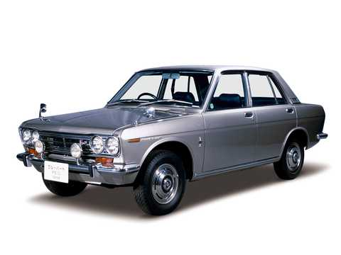 Front/Side  of Datsun Bluebird Sedan 1.6 Manual, 92hp, 1969