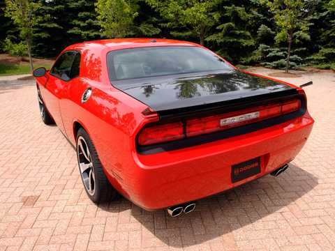 Back/Side of Dodge Challenger SRT10 8.4 V10 Concept, 608hp, 2008