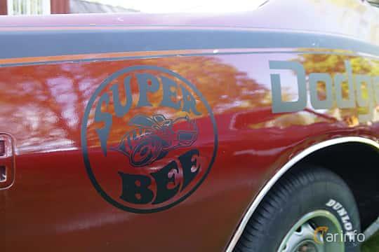 Close-up of Dodge Charger Super Bee 6.3 V8 TorqueFlite, 305ps, 1971 at Onsdagsträffar på Gammlia Umeå 2019 vecka 28