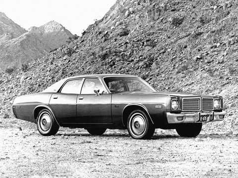 Front/Side  of Dodge Coronet Sedan 1976