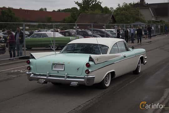 Back/Side of Dodge Coronet Lancer 2-door 5.3 V8 TorqueFlite, 314ps, 1957 at Power America Fest, Nossebro 2017