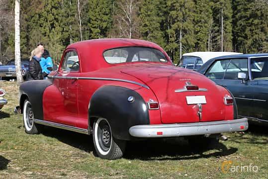 Back/Side of Dodge DeLuxe Business Coupé 3.8 Manual, 102ps, 1948 at Uddevalla Veteranbilsmarknad Backamo, Ljungsk 2019