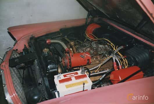 Motorutrymme av Chrysler 300 Hardtop 6.4 V8 Automatic, 386ps, 1958