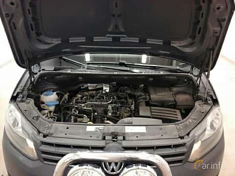 Engine compartment  of Volkswagen Caddy Panel Van 1.6 TDI Manual, 102ps, 2014
