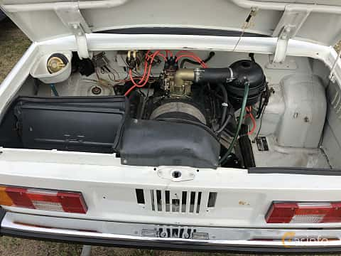 Engine compartment  of ZAZ 968M 1979 at Old Car Land no.2 2019