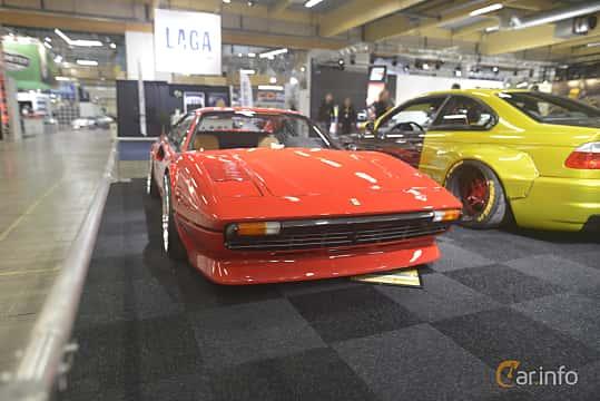 Front/Side  of Ferrari 308 GTB 2.9 V8 Manual, 255ps, 1975 at Bilsport Performance & Custom Motor Show 2019