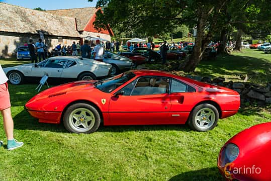 Side  of Ferrari 308 GTBi Quattrovalvole 2.9 V8 Manual, 240ps, 1982 at Sportbilsklassiker Stockamöllan 2019