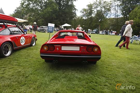 Back of Ferrari 308 GTSi Quattrovalvole 2.9 V8 Manual, 240ps, 1985 at Sofiero Classic 2019
