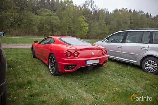 Back/Side of Ferrari 360 Modena 3.6 V8 Sequential, 400ps, 2001 at Lucys motorfest 2019