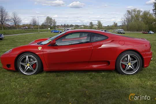 Side  of Ferrari 360 Modena 3.6 V8 Manual, 400ps, 2000 at Tisdagsträffarna Vikingatider v.19 / 2017