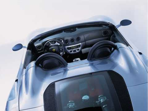Close-up of Ferrari 360 Spider 3.6 V8 400hp, 2002