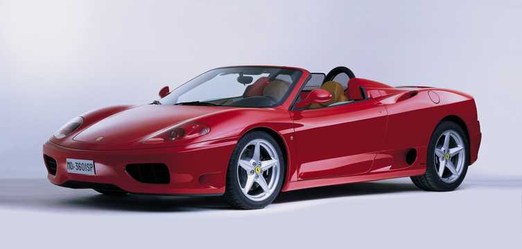 Front/Side  of Ferrari 360 Spider 2002