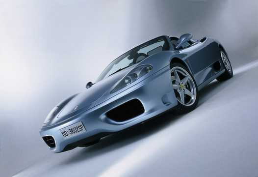 Front/Side  of Ferrari 360 Spider 3.6 V8 400hp, 2002
