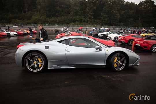 Side  of Ferrari 458 Italia 4.5 V8  DCT, 570ps, 2015 at Autoropa Racing day Knutstorp 2015