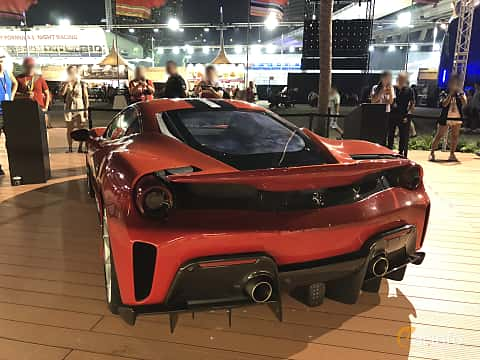 Back of Ferrari 488 Pista 3.9 V8 DCT, 720ps, 2018