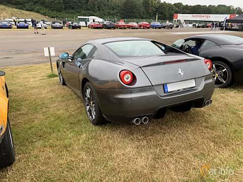 Back/Side of Ferrari 599 GTB 6.0 V12 Sequential, 620ps, 2009 at Svenskt sportvagnsmeeting 2019