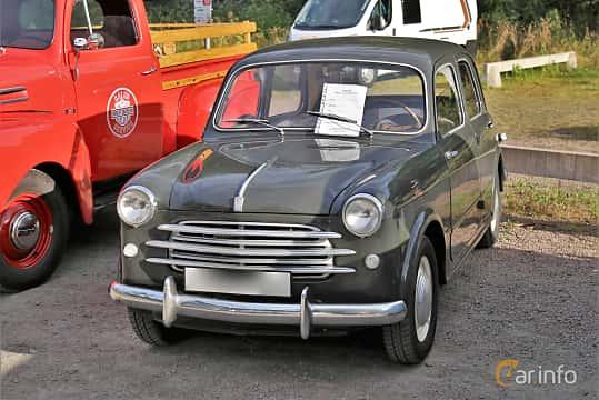 Front/Side  of Fiat 1100 Sedan 1.1 Manual, 37ps, 1955 at Kungälvs Kulturhistoriska Fordonsvänner  2019 Torsdag vecka 31