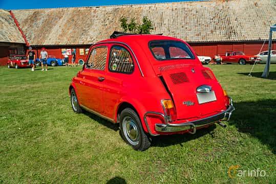 Back/Side of Fiat 500 L 0.5 Manual, 18ps, 1969 at Sportbilsklassiker Stockamöllan 2019