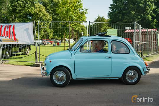 Side  of Fiat 500 L 0.5 Manual, 18ps, 1972 at Ronneby Nostalgia Festival 2019