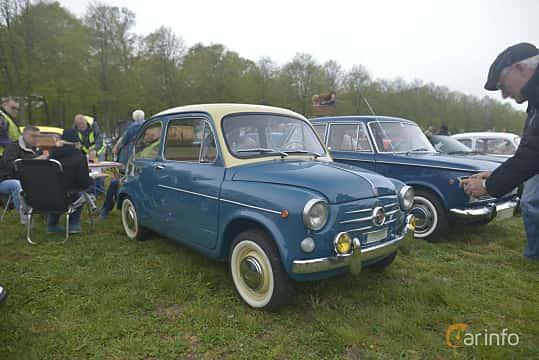 Fram/Sida av Fiat 600D 0.8 Manual, 33ps, 1966 på Italienska Fordonsträffen - Krapperup 2019