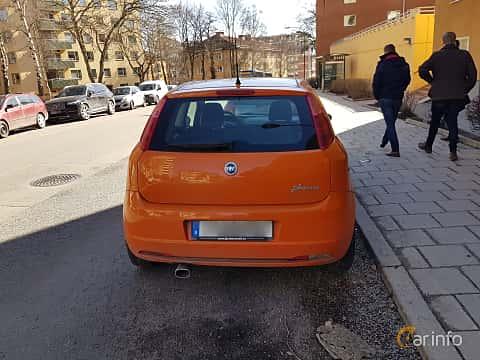 Back of Fiat Grande Punto 3-door 1.9 JTD Manual, 130ps, 2007