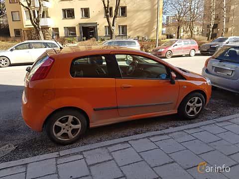 Back/Side of Fiat Grande Punto 3-door 1.9 JTD Manual, 130ps, 2007
