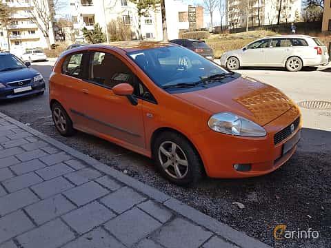 Fram/Sida av Fiat Grande Punto 3-door 1.9 JTD Manual, 130ps, 2007