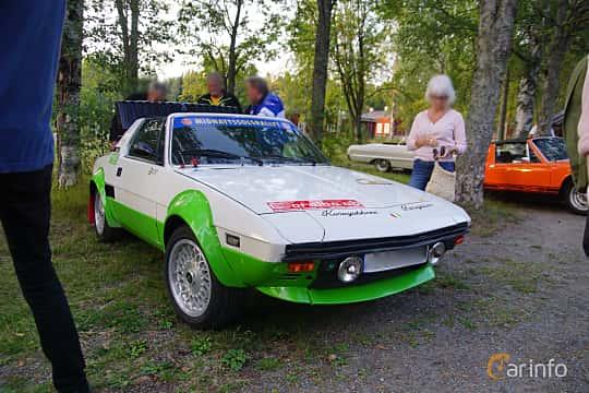 Front/Side  of Fiat X1/9 1.5 Manual, 86ps, 1984 at Onsdagsträffar på Gammlia Umeå 2019 vecka 35