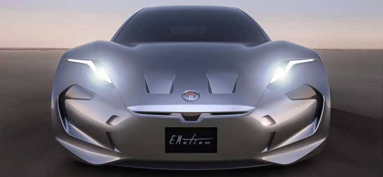 Front  of Fisker Emotion 1st Generation
