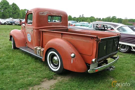 Back/Side of Ford Model 19C Pickup Truck 3.9 V8 Manual, 102ps, 1941 at Hässleholm Power Start of Summer Meet 2016