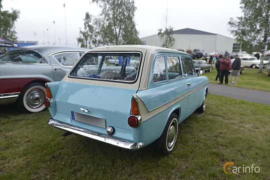 Back/Side of Ford Anglia Estate 1.0 Manual, 38ps, 1962 at Umeå Wheels Nations Norr 2016