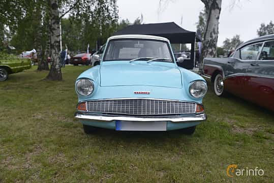 Front  of Ford Anglia Estate 1.0 Manual, 38ps, 1962 at Umeå Wheels Nations Norr 2016