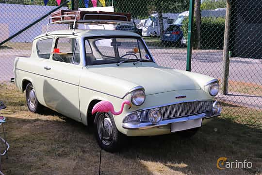 Front/Side  of Ford Anglia 1.0 Manual, 39ps, 1962