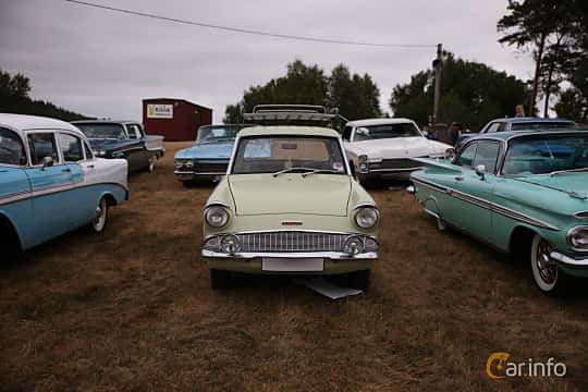 Front  of Ford Anglia 1.0 Manual, 39ps, 1962 at Wheels & Wings 2018