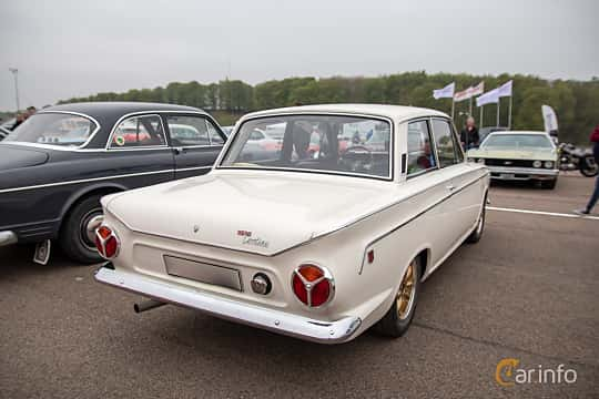 Back/Side of Ford Cortina GT 2-door 1.5 Manual, 76ps, 1966 at Lucys motorfest 2019
