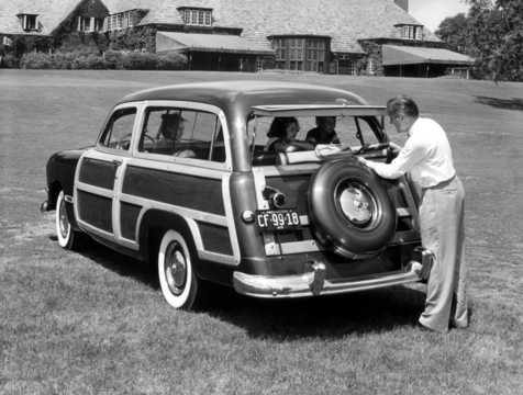 Back/Side of Ford Custom Country Squire 1950