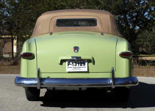 Back of Ford Custom Deluxe Convertible 3.9 V8 Manual, 102hp, 1950