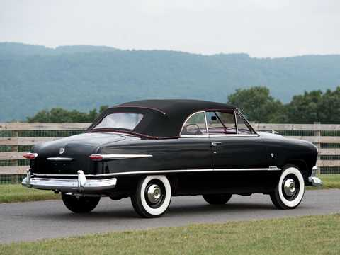 Back/Side of Ford Custom Deluxe Convertible 3.9 V8 Manual, 102hp, 1951
