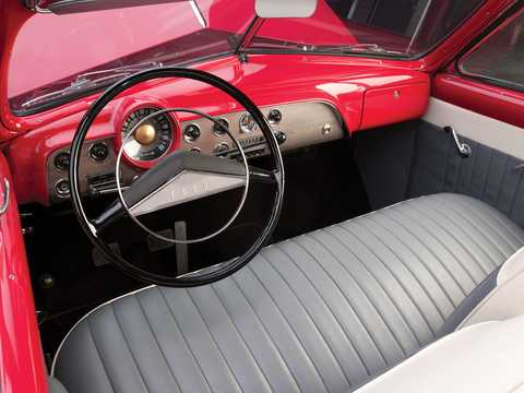 Interior of Ford Custom Deluxe Convertible 3.9 V8 Manual, 102hp, 1951