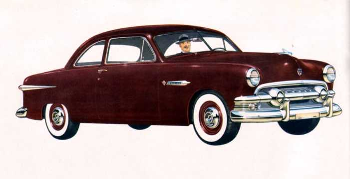 Front/Side  of Ford Deluxe Business Coupé 1951