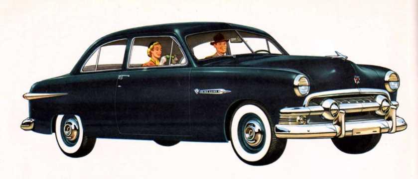 Front/Side  of Ford Deluxe Tudor Sedan 1951