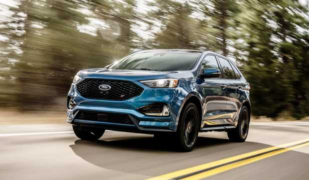 Front/Side  of Ford Edge ST 2.7 V6 EcoBoost AWD Automatic, 329hp, 2019