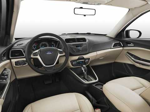Interior of Ford Escort 4-door Sedan 1.5 Ti-VCT 111hp, 2014
