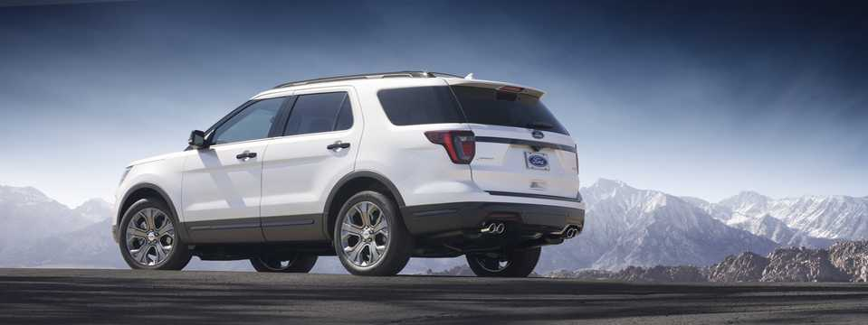 Back/Side of Ford Explorer 2018