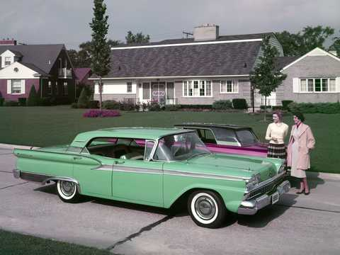 Front/Side  of Ford Fairlane 500 Town Victoria 1959