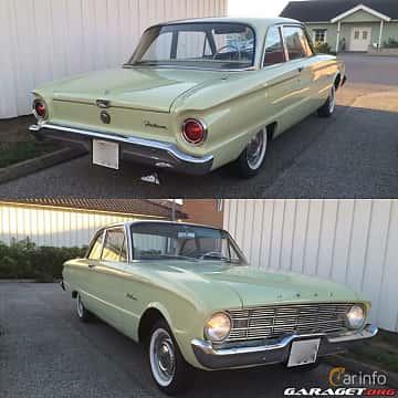 Back/Side of Ford Falcon 2-door Sedan 2.4 Manual, 87ps, 1960