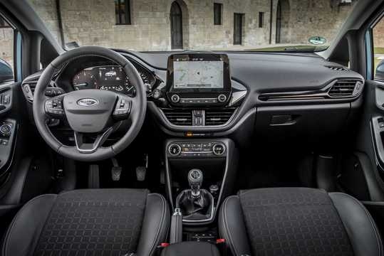 Interior of Ford Fiesta 3-door 2018