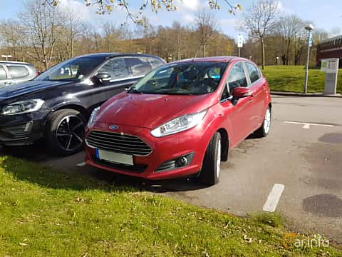 Front/Side  of Ford Fiesta 5-door 1.0 EcoBoost Manual, 100ps, 2016